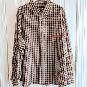 Pelle Pelle Jean Company plaid button up shirt